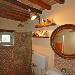 Bramasole: One of the two bathrooms