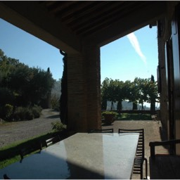 Cinque Querce e Mezzo: View from the kitchen veranda