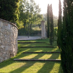 Cinque Querce e Mezzo: The carefully landscaped gardens