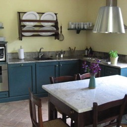 Cinque Querce e Mezzo: The first of two kitchens
