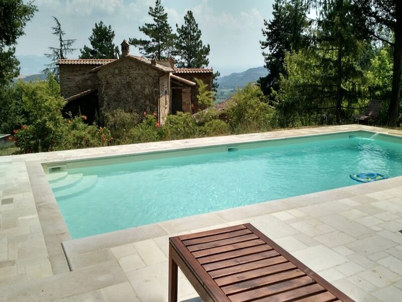Palazzolo farmhouse, pool with a view, Anghiari