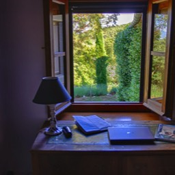 La Casina: A view of the Tuscan countryside from the study