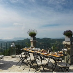 La Taverna al Monte: The wonderful views on the dining terrace