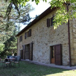 Palazzolo Farmhouse: The carefully restored farmhouse, maintaining its original Tuscan features