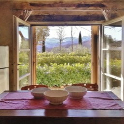 Poggiodoro: Panoramic views from the kitchen