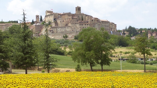 Anghiari, medieval hilltop village, Tuscany, voted one of the most beautiful villages in Italy