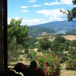 Villa Sergia: Open the window at your holiday property to this spectacular view